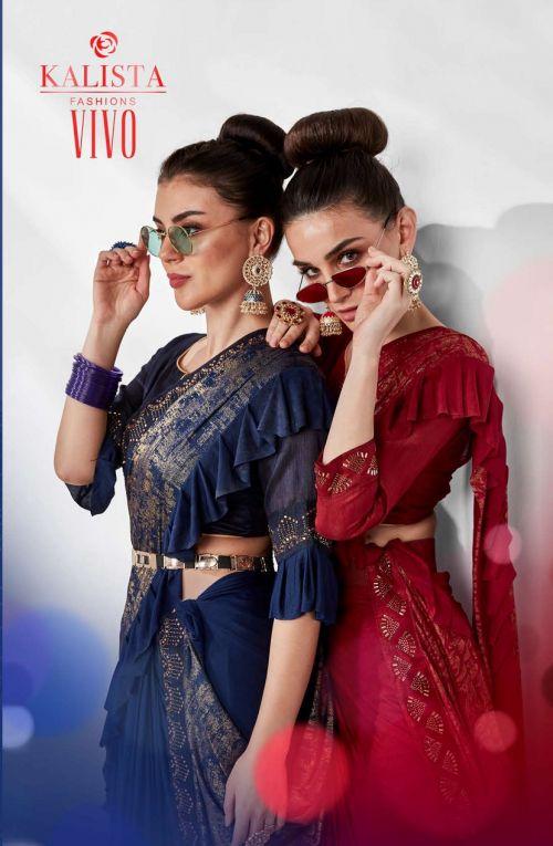 Kalista Vivo Party Wear Lycra Saree Collection