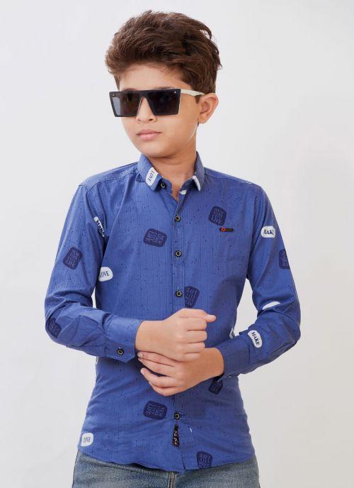 Full Sleeves 3 Stylish Kids Cotton Shirt Wholesaler
