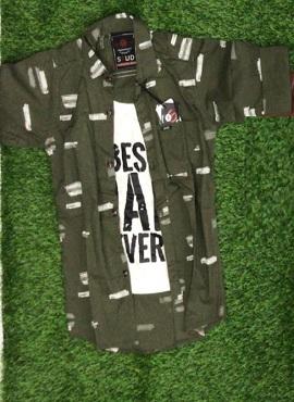 Full Sleeves 6 Stylish Kids Cotton Shirt Wholesaler