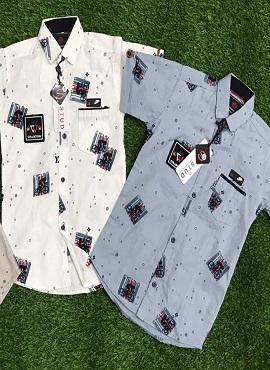 Half Sleeves 5 Stylish Kids Cotton Shirt wholesaler