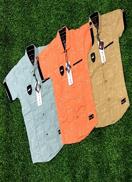 Half Sleeves 6 Stylish Kids Cotton Shirt wholesaler