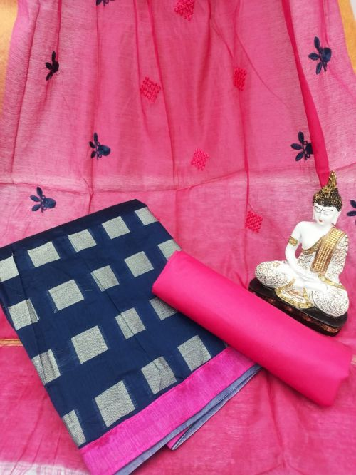 Rnx Bindiya 1003 Banarasi Cotton Dress Material