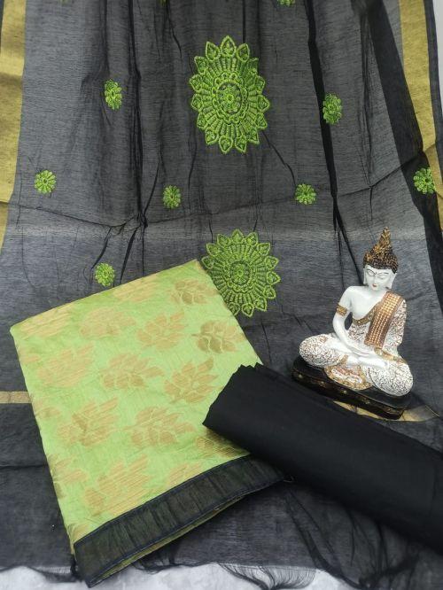 Rnx Bindiya 1004 Banarasi Cotton Dress Material