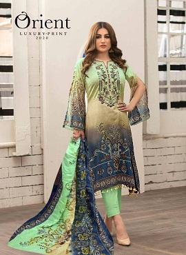 Orient Luxury Print 2020 Lawn Karachi Dress Material