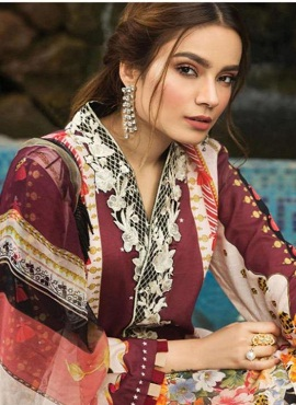 Asifa Nabeel 3 Pure Lawn Cotton Karachi Dress Material