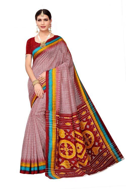 Lichi Silk Lot 10 Daily Wear Bhagalpuri Silk Printed Saree Collection