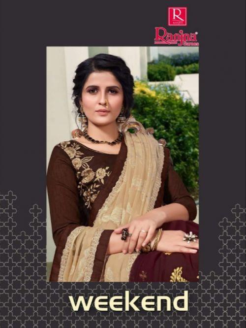 Ranjna Weekend Daily Wear Half Half Saree Collection