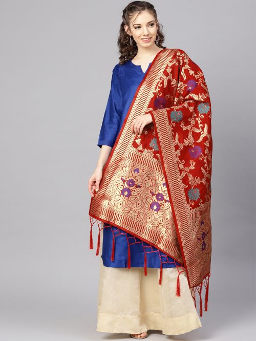 Zarika Hit Design Mixed 3 Banarasi Silk Dupatta