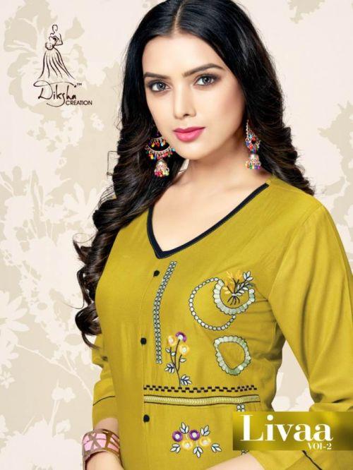 Diksha Livaa 2 Heavy Rayon Casual Wear Kurti Collection