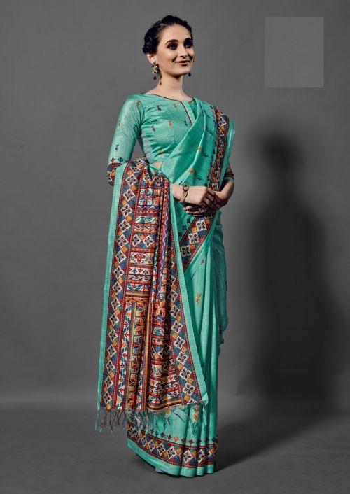 Nitya Bhagalpuri Silk Printed Saree Collection