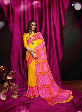 Sva Saniya Printed Georgette Casual Wear Saree Collection