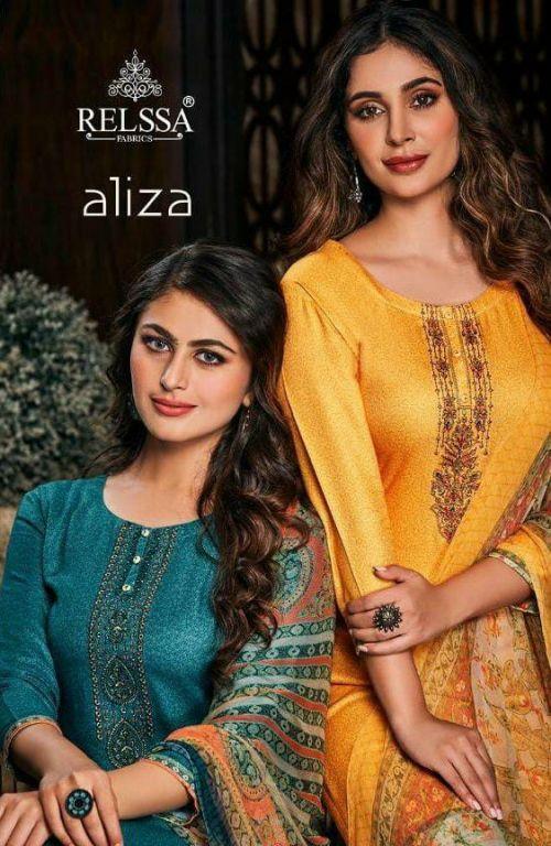 Sajjan Relssa Aliza 59001 Series Pure Pashmina Dress Material Collection