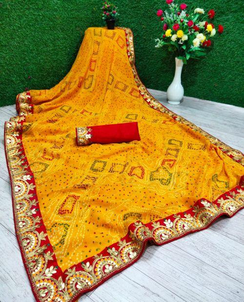 Mahek 9 Festive Wear Bandhani Printed Saree Collection