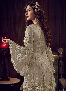 Swagat Violet Snow 6609 White Series Desginer Wedding Wear Salwar Suits