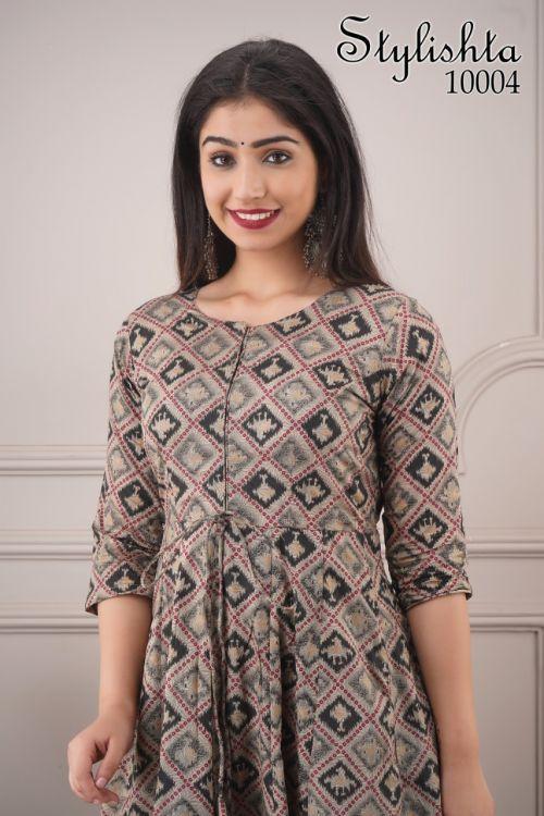 Stylishta 10 Designer Gown Style Chanderi Kurti Collection