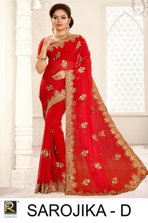 Ronisha Sarojika Casual Wear Georgette Saree Collection