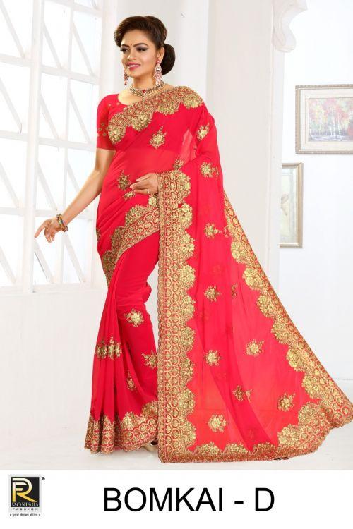Ronisha Bomkai Casual Wear Georgette saree collection