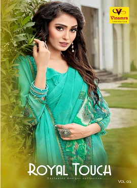 Vinamra Royal Touch 2 Ethnic Wear Georgette Saree Collection