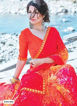Hirva Khushi K Pal Ethnic Wear Georgette Saree Collection