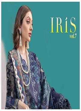 Iris 7 Printed Cotton Karachi Dress Material Collection