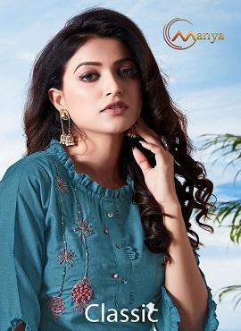 Manya Classic Ethnic Wear Designer Kurtis Collection