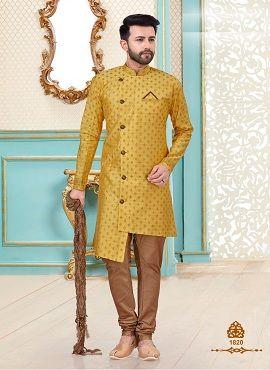 Baanarasi Silk Designer Mens Kurta With Dhoti Style Mens Wear Collection