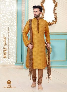 Festive Wear Exclusive Kurta With Dhoti Style Mens Wear Collection