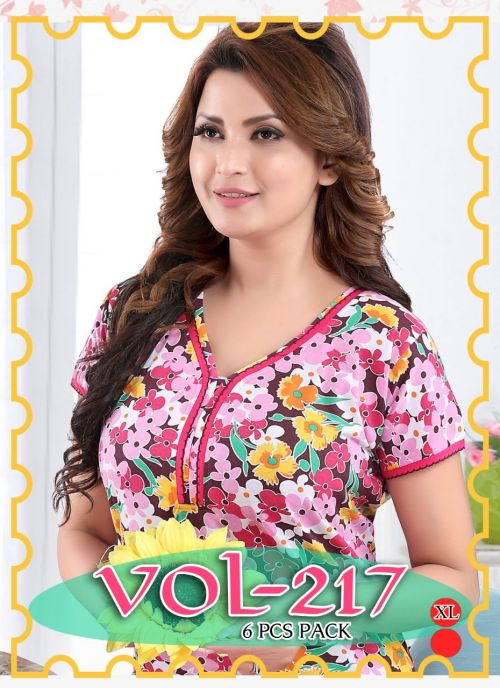 Nighty 217 Printed Western Nightsuits Collection