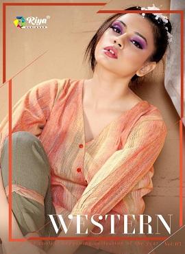 Riya Western 3 Fancy Stylish Tops With Bottom Collection