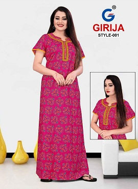 Girjia 1 Nighty Printed Western Nightsuits Collection