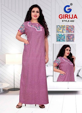 Girjia 2 Nighty Printed Western Nightsuits Collection