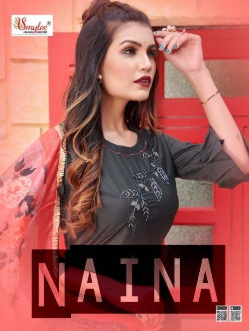 Smylee Naina Designer Heavy Silk Kurti With Dupatta Collection