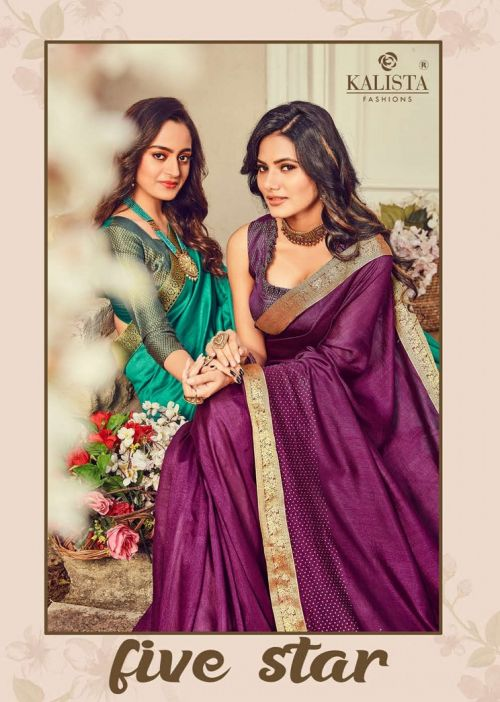 Kalista Five Star Casual Wear Georgette Saree Collection