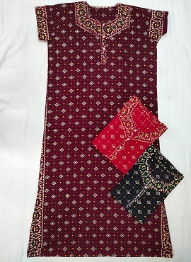 Cotton Nighty 6 Printed Western Nightsuits Collection