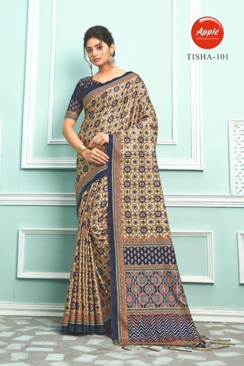 Apple Tisha 1 Casual Wear Bhagalpuri Silk Sarees Collection