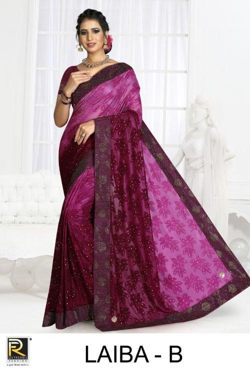 Ronisha Laiba Casual Wear Saree Collection