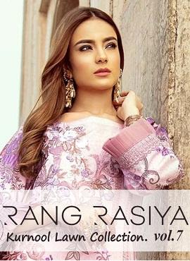 Rang Rasiya Kurnool Lawn Collection 7 Pakistani Salwar Suits Collection