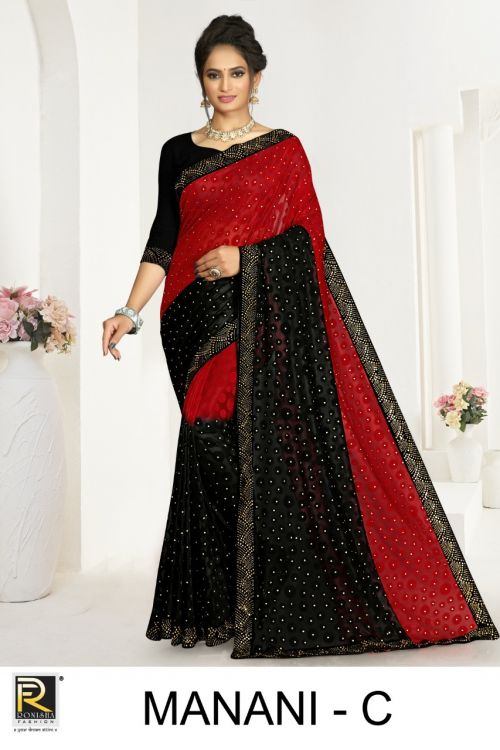Ronisha Manani Casual Wear Brasso Sarees Collection