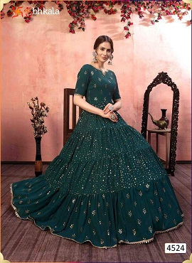 Kf Flory 4524 Exclusive Designer Ladies Gown Collection