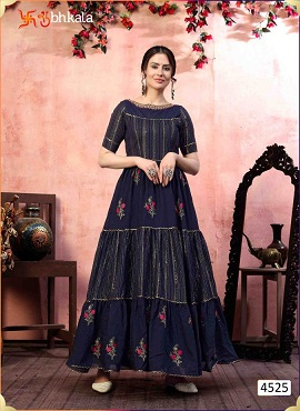 Kf Flory 4525 Exclusive Designer Ladies Gown Collection