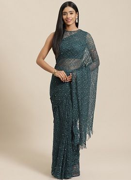 Lacy Affair 3 Fancy Party Wear Net Sarees Collection