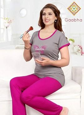 Gaabha Blossom 1 Hoisery Cotton Nightsuits Collection