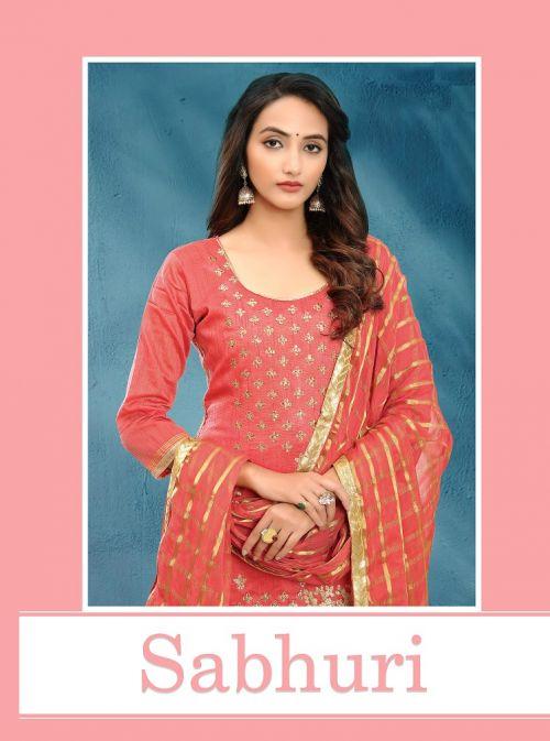 Sabhuri Casual Wear Designer Churidar Dress Materials Collection