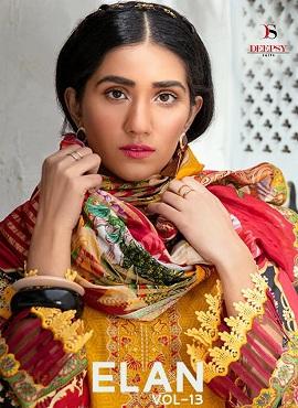 Deepsy Elan 13 Digital Printed Karachi Dress Materials Collection