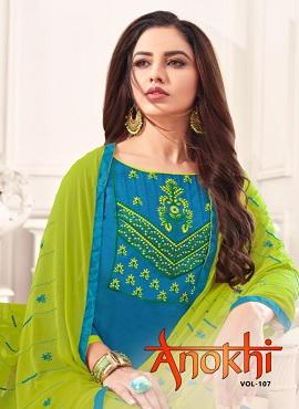 Ff Anokhi Casual Wear Churidar Dress Materials Collection