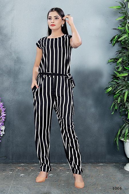 Mihika Jumpsuit Crepe Silk Lining Western Wear Collection