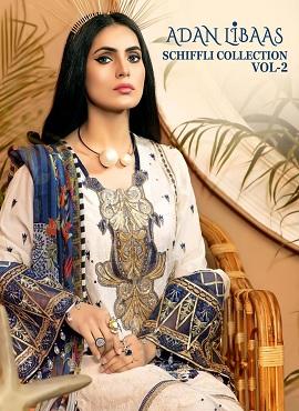 Shree Adan Libaas Schiffli Collection 2 Pakistani Salwar Suits Collection