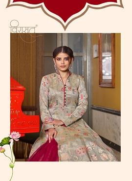 Virasat Muskan Exclusive Jacquard Designer Gown Collection