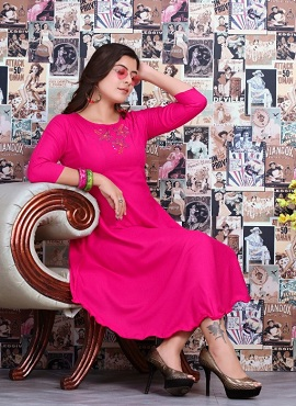 Trendy Favourite Casual Wear Rayon Designer Kurtis Collection