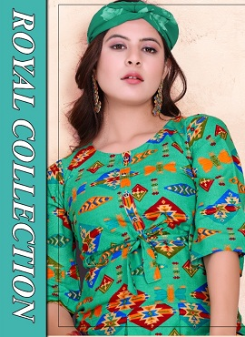 Trendy Flyer 2 Rayon Casual Wear Printed Kurtis Collection